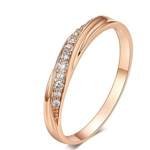 Pave 18k Rose Gold Plated Ring